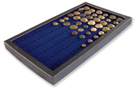 72 Slot Button Display Case Blue