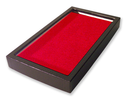 72 Slot Ring Display Case Red