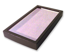72 Slot Ring Display Case Gray