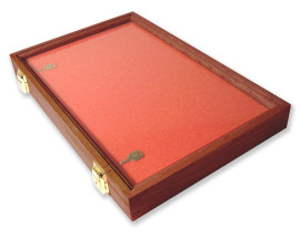 45.7 X 30.5 X 5.08cm Walnut Display Case