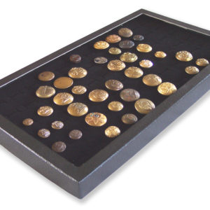 72 Slot Button Display Case Black