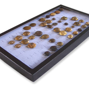 72 Slot Button Display Case Gray