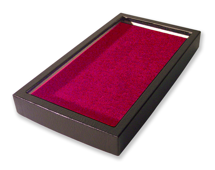 72 Slot Ring Display Case Burgundy