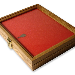 30.5 X 24.1 X 5.08cm Oak Display Case