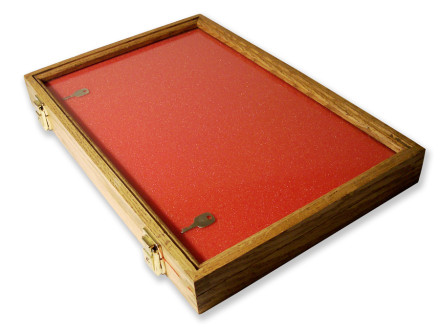 45.7 X 30.5 X 5.08cm Oak Display Case